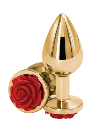 Rear Assets Gold Rose Butt Plug - Medium