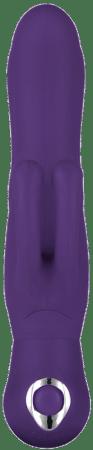 Double Dancer Rabbit Vibrator in Purple - Bellesa Sex Toys - Sex Toy Store