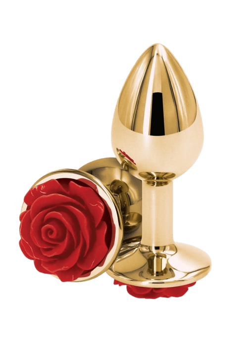 Rear Assets Gold Rose Butt Plug - Small