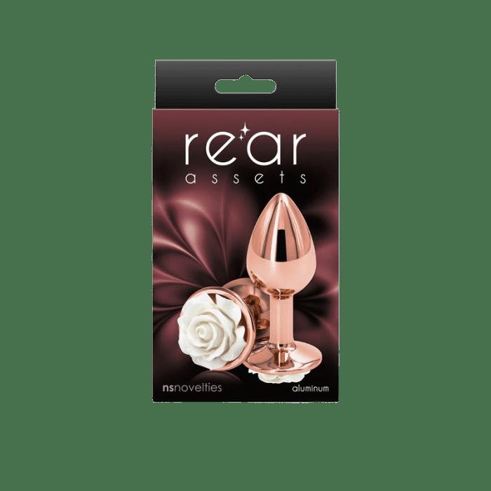 Rear Assets Rose Gold Rose Butt Plug - Small