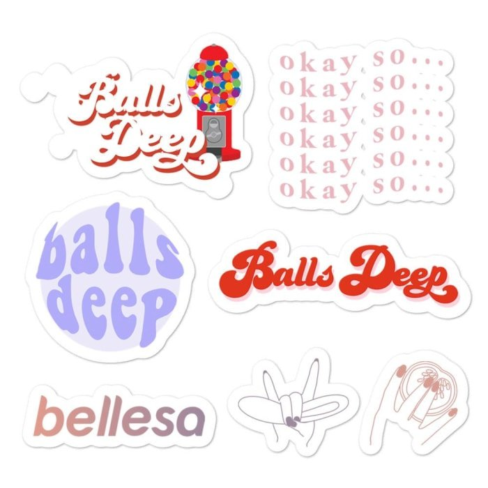 Balls Deep Sticker Sheet